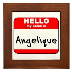 Hello my name is Angelique Framed Tile