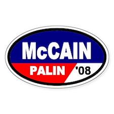 McCain-Palin '08 Oval Decal