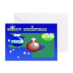 Masonic Tree n' Santa Greeting Cards (Pk of 10)
