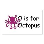 O is for Octopus Rectangle Sticker 10 pk)