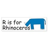 R is for Rhino Bumper Sticker (50 pk)