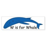 W is for Whale Bumper Sticker (10 pk)