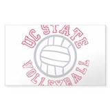 UC State Volleyball Rectangle Sticker 50 pk)