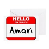Hello my name is Amari Greeting Cards (Pk of 10)