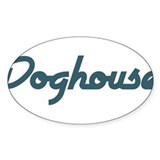 Doghouse Oval Sticker (50 pk)