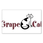 Grape Cat Sticker (Rectangle 10 pk)