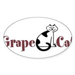 Grape Cat Sticker (Oval 50 pk)