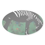 Zebra Oval Sticker (10 pk)