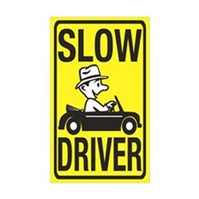 Slow Driver Rectangle Sticker 50 pk)
