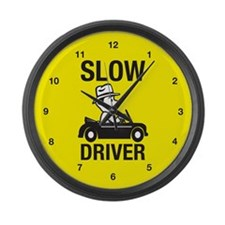 Slow Driver Large Wall Clock
