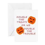 Double Tricks or Treats Greeting Cards (Pk of 10)