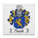 Piazzola Family Crest Tile Coaster