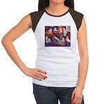 Impressionist Swallows Women's Cap Sleeve T-Shirt