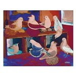 Impressionist Swallows Small Poster