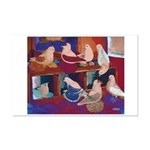 Impressionist Swallows Mini Poster Print