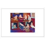 Impressionist Swallows Large Poster