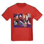 Impressionist Swallows Kids Dark T-Shirt