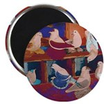 """Impressionist Swallows 2.25"""" Magnet (100 pack"""