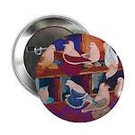 "Impressionist Swallows 2.25"" Button"