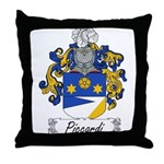 Piccardi Family Crest Throw Pillow