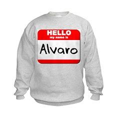 Hello my name is Alvaro Kids Sweatshirt
