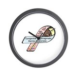 Payton Shoemaker CDH Awareness Ribbon Wall Clock