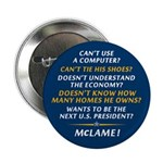 """McCain is McLame 2.25"""" Button"""
