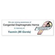 Yazmin (Mi Gorda) CDH Awareness Ribbon Bumper Sticker