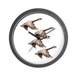 Canada Geese Flying Wall Clock