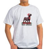 Poinsettia Chocolate Lab T-Shirt