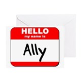 Hello my name is Ally Greeting Card