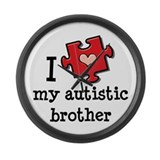 I Love My Autistic Brother Large Wall Clock