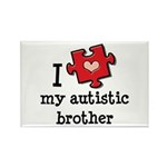 I Love My Autistic Brother Rectangle Magnet (100 p