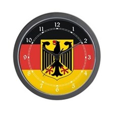 Deutschland Coat of Arms Wall Clock