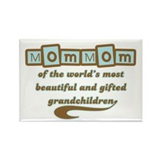 MomMom of Gifted Grandchildren Rectangle Magnet (1