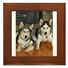 Brother and Sister Framed Tile