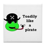 TOADILY LIKE A PIRATE Tile Coaster