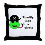 TOADILY LIKE A PIRATE Throw Pillow