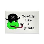 TOADILY LIKE A PIRATE Rectangle Magnet (10 pack)