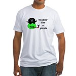 TOADILY LIKE A PIRATE Fitted T-Shirt