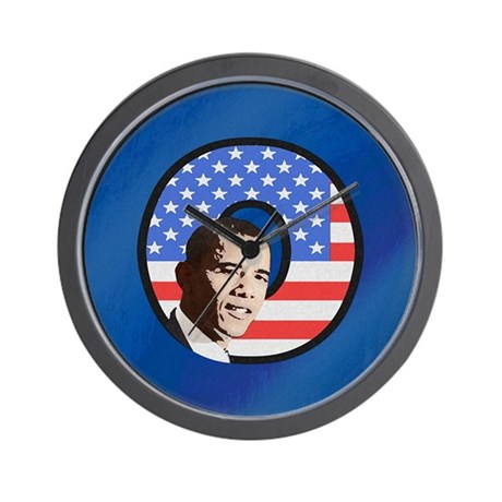 Obama Stars & Stripes Wall Clock