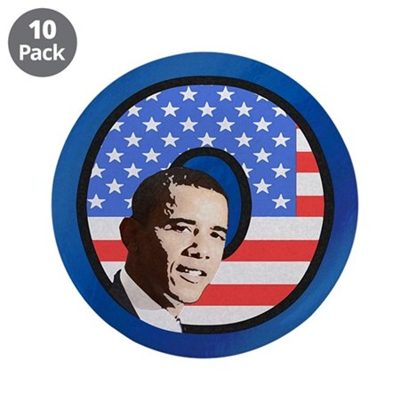 "Obama Stars & Stripes 3.5"" Button (10 pack)"