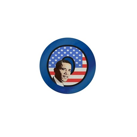 Obama Stars & Stripes Mini Button (100 pack)