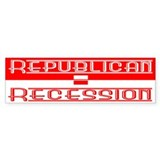 Recession Bumper Bumper Sticker