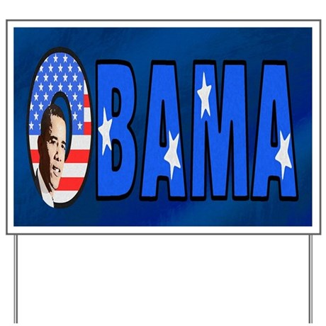 Obama Stars & Stripes Yard Sign