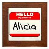 Hello my name is Alicia Framed Tile