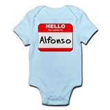 Hello my name is Alfonso Infant Bodysuit