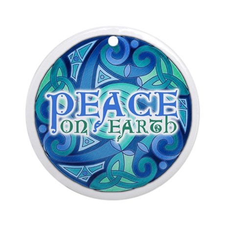Celtic Peace on Earth Ornament (Round)