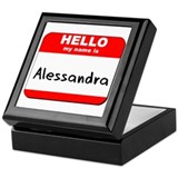 Hello my name is Alessandra Keepsake Box