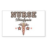 Dialysis Nurse Caduceus Rectangle Sticker 50 pk)